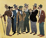 Caricature Framed Prints - Caricature Of Spanish People 1920s. © Framed Print by Everett