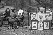 Caricature Photo Posters - Caricature  Time Central Park Poster by John McGraw