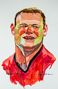 Wayne Rooney Prints - Caricature wayne rooney Print by Ubon Shinghasin