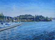 Kirkland Painting Prints - Carilllon Point Marina Print by Charles Smith