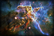 Nebulas Prints - Carina Nebula 6 Print by The  Vault - Jennifer Rondinelli Reilly