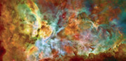 Nebulas Prints - Carina Nebula - Interpretation 1 Print by The  Vault - Jennifer Rondinelli Reilly