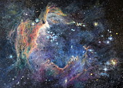 Impasto Oil Paintings - Carina Nebula by Marie Green