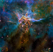 Pillars Digital Art Posters - Carina Nebula Poster by Nicholas Burningham