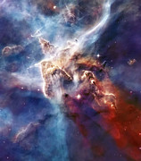 Astrology Photos - Carina Nebula Pillar by The  Vault