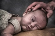 Baby Digital Art - Caring hands by Gun Legler