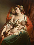 Famous Artists - Caritas by Friedrich von Amerling