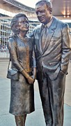 Stands Mixed Media - Carl and Eloise Pohlad statue at Target Field by Todd and candice Dailey