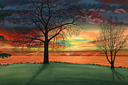 Chicago Pastels Posters - Carlas Sunrise Poster by George Burr