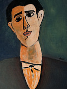 Portraits Paintings - Carlo  by Oscar Penalber
