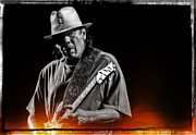 Carlos Prints - Carlos Santana on Guitar 5 Print by The  Vault - Jennifer Rondinelli Reilly