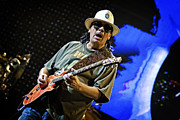 Carlos Prints - Carlos Santana on Guitar 6 Print by The  Vault