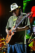 Carlos Framed Prints - Carlos Santana on Guitar 8 Framed Print by The  Vault