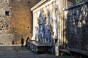 Historic Streets Prints - Carlos V Pillar Print by Guido Montanes Castillo
