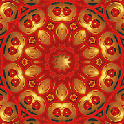 Kaleidoscope Metal Prints - Carlotta Metal Print by Wendy J St Christopher