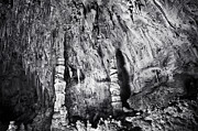 Stalactites Prints - Carlsbad in Black and White Print by Melany Sarafis