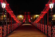 Glasgow Scotland Cityscape Prints - Carlton place suspension footbridge Print by Grant Glendinning