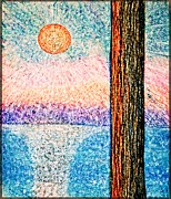 Seurat Originals - Carmel Highlands Sunset by Joseph J Stevens