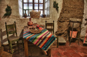 Kitchen Interior Posters - Carmel Mission 7 Poster by Ron White