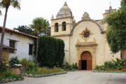 Carmel Mission Church Print by Carol Groenen