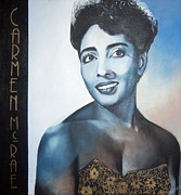 Black History Paintings - Carmen McRae by Chelle Brantley