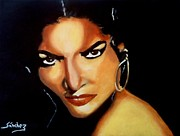 Sanchez Painting Prints - Carmen - Original Painting SOLD Print by Manuel Sanchez