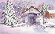 Carmichaels Covered Bridge Print by Leslie Fehling