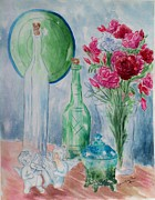 January Paintings - Carnation Still Life by Melanie Palmer