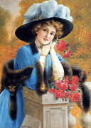 Are Posters - Carnations Are For Love Poster by Emile Vernon