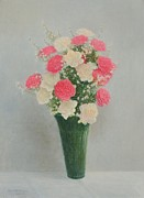 Carnations Paintings - Carnations by Earl Mott