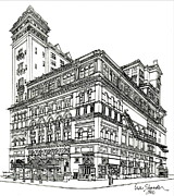 Featured Drawings Metal Prints - Carnegie Hall Back in Time Metal Print by Ira Shander