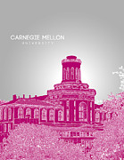 Fraternity Mixed Media Prints - Carnegie Mellon University Hamerschlag Hall Print by Myke Huynh