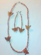 Insects Jewelry - Carnelian Butterfly by Lyra Jubb