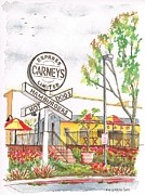 Dinner Painting Originals - Carneys Hamburgers and Hot Dogs in Studio City - California by Carlos G Groppa