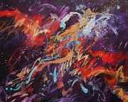 Abstract Expressionist Metal Prints - Carnival Metal Print by Carol Suzanne Niebuhr