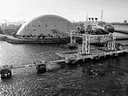 Spruce Goose Photos - Carnival Cruises Dome and Queen Mary by John Derby