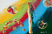 Abstract Expressionist Posters - Carnival Poster by Donna Blackhall
