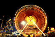 Carnivals Prints - Carnival Farris Wheel Night Lights Print by Paul W Faust -  Impressions of Light