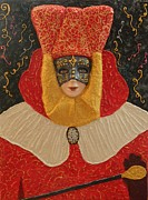 Arte Mosaico Mixed Media Prints - Carnival Print by Liza Wheeler