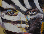 Zebra Face Prints - Carnival Print by Michael Creese