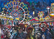 Creepy Mixed Media Originals - Carnival by Patricia Allingham Carlson