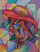 Human Head Pastels - Carnival Queen by Ainsworth Mckend