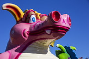 Funny Monsters Prints - Carnival ride monster Print by Garry Gay