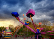 New Hampshire - Carnival Rides - Nashua NH by Joann Vitali