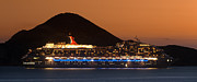 Big Sur Photos - Carnival Splendor at Cabo San Lucas by Sebastian Musial