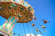 Amusements Prints - Carnival Swing Print by Colleen Kammerer