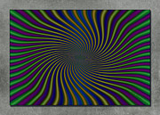 Optical Illusion Digital Art Posters - Carnival Poster by WB Johnston