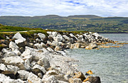Jane Mcilroy Art - Carnlough Bay Antrim Northern Ireland by Jane McIlroy