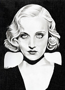 Orchids Drawings - Carole Lombard by Fred Larucci