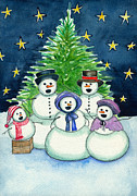 Christmas Eve Paintings - Carolers by Katherine Miller